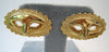 Gold Tone Mask Earrings