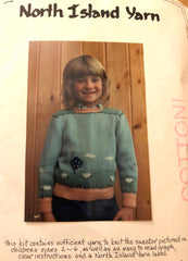 North Island Yarns Cotton Child's Sweater Knitting Kit