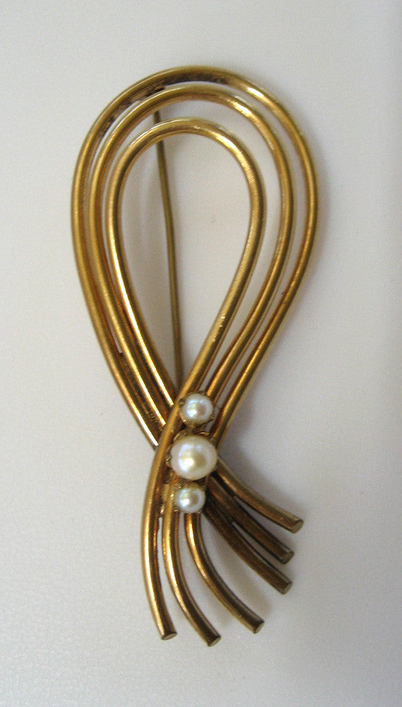 A&Z Gold-Filled Cultured Pearl Brooch/Pin