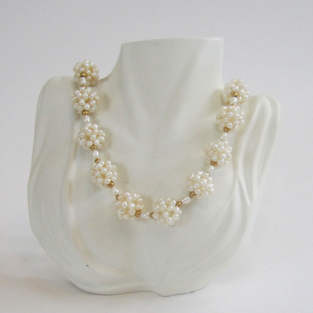 Freshwater Pearl Ball Necklace
