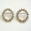 Unsigned Matching Rhinestone Wreath Brooches/Pins