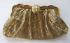 Whiting and Davis Gold-tone Mesh Clutch/Handbag with Rhinestone Clasp