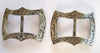 Sterling Silver Pair of Engraved Sash Buckles
