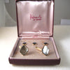 Hahne & Co Swank Mother-of-Pearl Cuff Links and Buttons Set