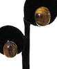 1/20 12K Yellow Gold-Filled Binder Brothers Tiger Eye Scarab Earrings