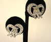 1950s Trifari Rhinestone Twisted Earrings