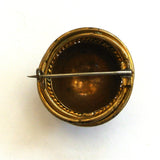 Victorian Dome Brass Brooch/Pin
