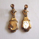 Victorian Gold-Filled Taille d'Epargne Earrings