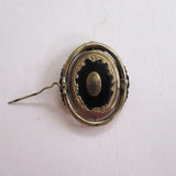 Victorian Enamel Swivel Hair Brooch/Pin