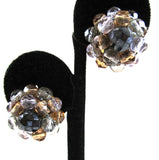 West German Crystal Bead Earrings