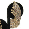 Rhinestone Sweep Earrings