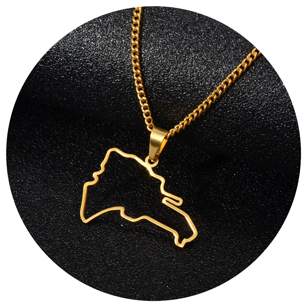 Map Outline Necklace