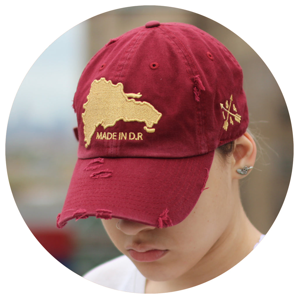Made in D.R Ripped Dad Hat (Full)