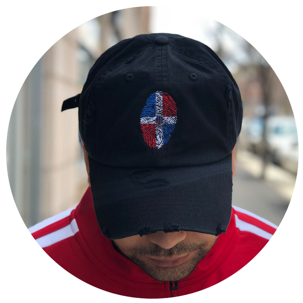 Dominican fingerprint dad hat