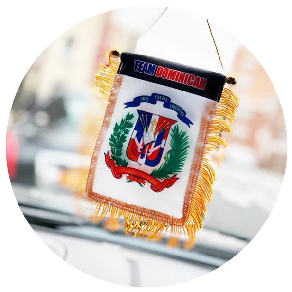 White Escudo Car Flag