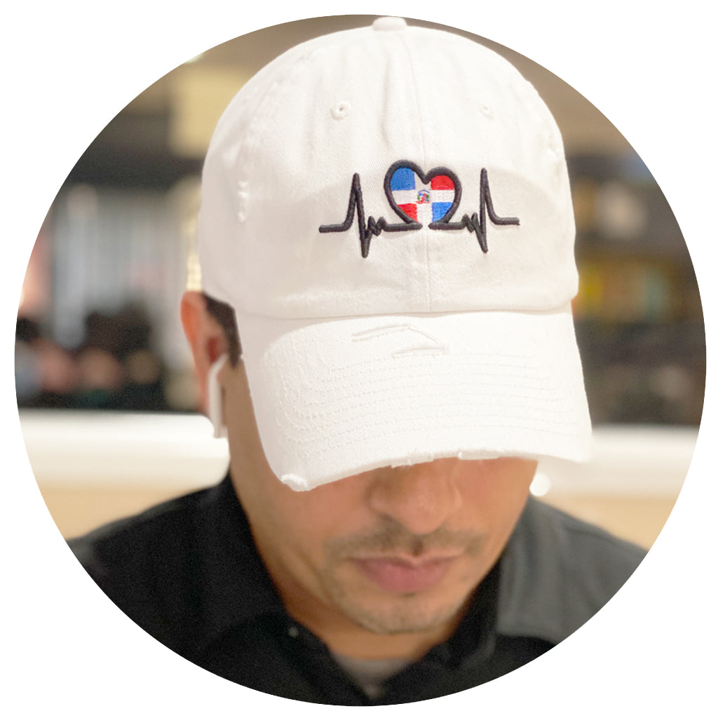 Dominican Heart Beat Dad Hat