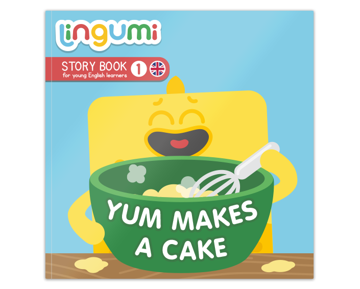 Lingumi Story Book 1: Yum makes a Cake!