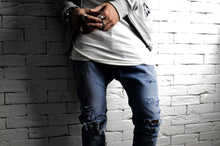 Bleached Ripped Skater Skinnys | Drop Crotch Jeans | Alex Christopher