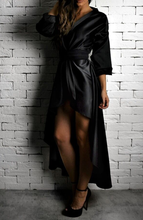 Black Wrap Over Dress | Unique Dresses | Alex Christopher Clothing