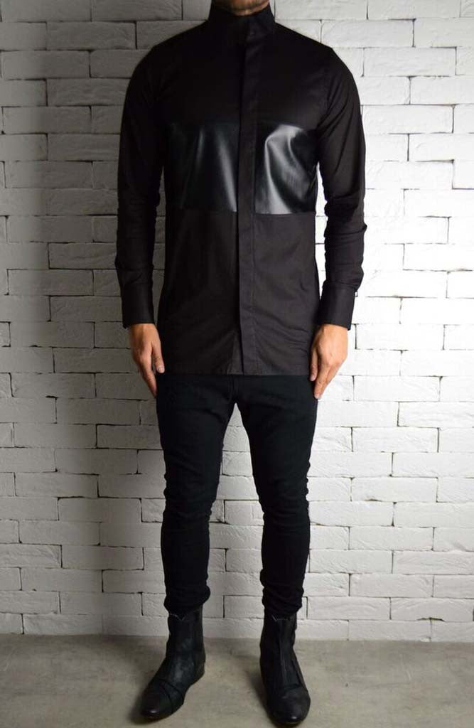 Alex Christopher Directional Leather Shirt