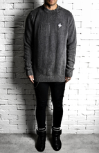 Ribbed Jumper - Washed Charcoal