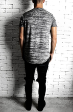 Grey Marl Curve Hem T-Shirt | Mens T-Shirt | Alex Christopher Clothing