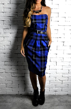 Blue Tartan Tie Around Crop | Tartan Crop | Alex Christopher Clothing