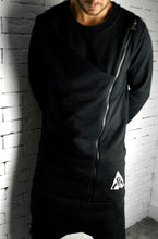 Directional Zipped Jumper - Black