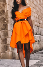 Neon Orange Roze Dress | Unique Dresses | Alex Christopher Clothing