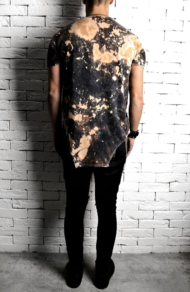 Tie Dye Square Hem T-Shirt | Men's T-Shirts | Alex Christopher