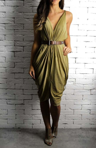Gold Athena Dress | Occasion Dresses | Alex Christopher Clothing