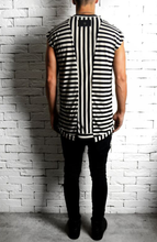 Black/Cream Cap Sleeve T-Shirt | Striped T-Shirts | Alex Christopher