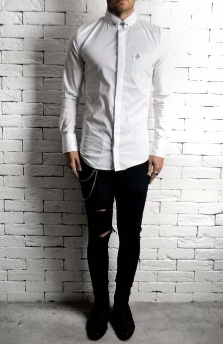 Collar Pin Shirt | Mens Unique Shirts | Alex Christopher