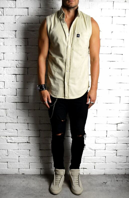 Stone Cut Off Shirt | Mens Casual Shirts | Alex Christopher
