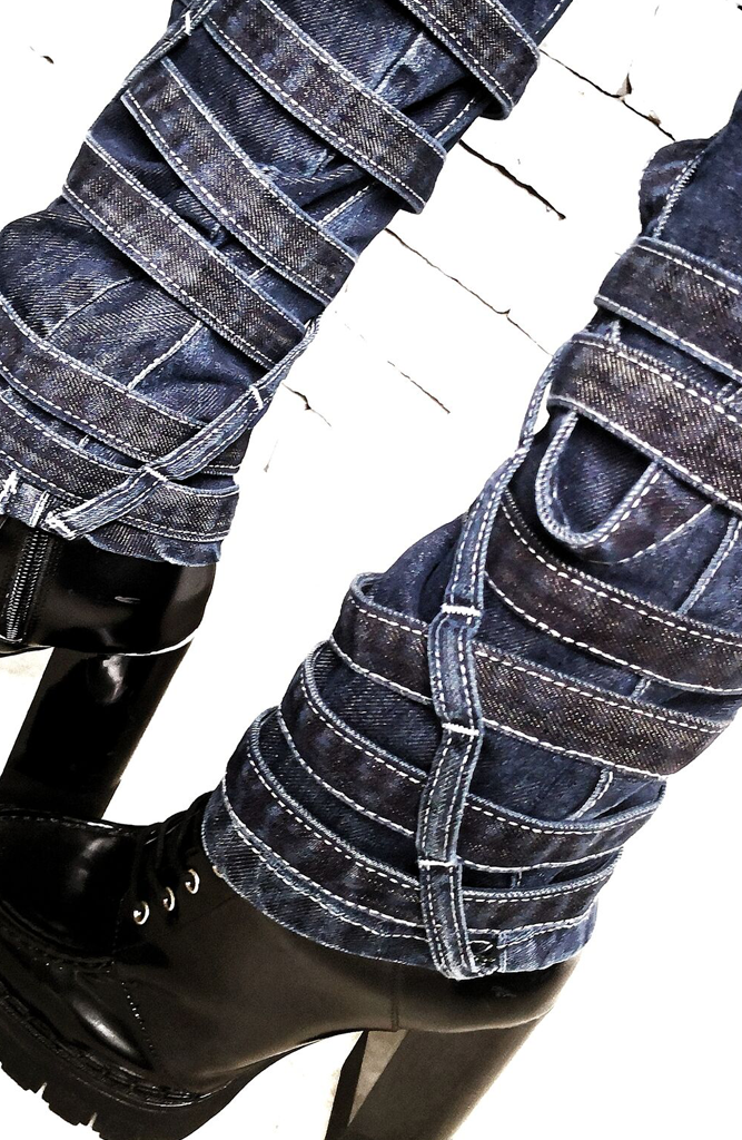 Denim Strap Jeans | Women's Jeans | Alex Christopher Clothing