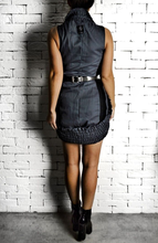 Elastic Collar Dress - Charcoal