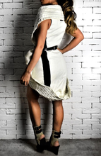 Elastic Collar Dress - Cream