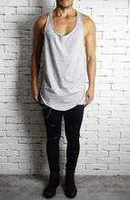 Directional Piped Racer Back Vest - Grey