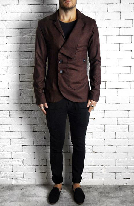 Maroon Lapel Suit Blazer | Mens Smart Jackets | Alex Christopher