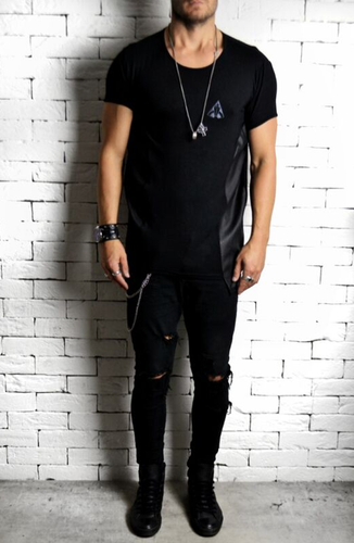 Alex Christopher Leather embossed t-shirt