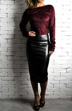 Alex Christopher velvet Crop
