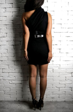 One Shoulder Dress - Black