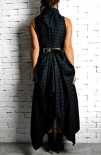 Raven Dress - Navy/Green Tartan