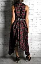 Raven Dress - Red/Green Tartan