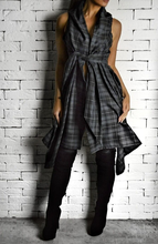 Grey Tartan Raven Top | Wrap Tops | Alex Christopher