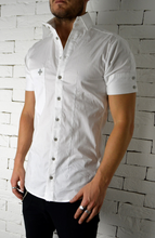 Side Button Shirt - White