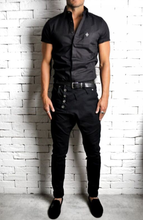 Side Button Skinnys - Black