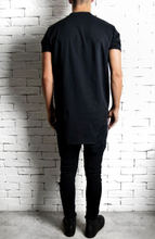 Square Hem T-Shirt - Black