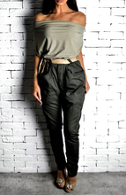 Khaki High Waisted Twisted Jeans | Women's Jeans | Alex Christopher