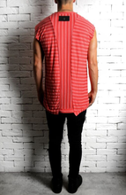 Cap Sleeve T-Shirt - Pink Stripe